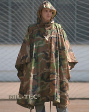 Poncho Militare WOODLAND Antipioggia Antistrappo 3 IN 1