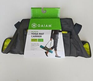 GAIAM On-The -Go Yoga Mat Carrier with Expandable Pocket Sling Fits Most Mats
