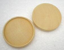 6 x Untersetzer Holzuntersetzer D=65 mm Buche natur Deckel Sockel Rad