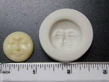 Round Moon Face Polymer Clay Mold (Closed Eyes) (#MD1076)
