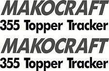 Makocraft 355 Topper Tracker Sticker Decal Set