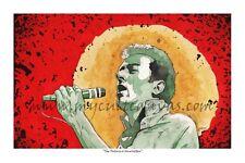 "Original ""The Future is Unwritten"" The Clash Joe Strummer Art Print album Poster"