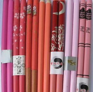 "9"" HAIR STICKS chopsticks RED Many Designs Symbols Dragon Gold Plain PINK Orang"