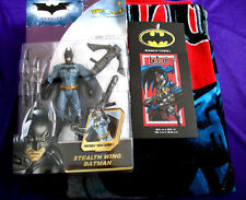 New Batman Beach or Bath Towel & The Dark Knight Stealth Wing Action Figure