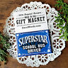 Superstar School Bus Driver * Job well done GIFT MAGNET  New in Pkg Made in USA
