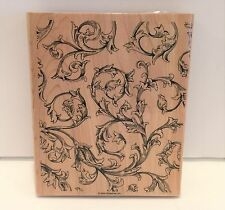 Stampin Up ANTIQUE Background Large Rubber Stamp