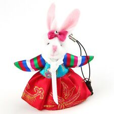 Rabbit Doll Korean Hanbok Traditional Costume Mobile Cell Phone Strap Charms