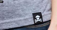 250 High Quality Damask Custom Artwork Loop Fold Sewing Woven Label U.S Seller