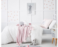 Adairs Kids Angelica Queen Quilt Cover Set White BNIB RRP $129.99