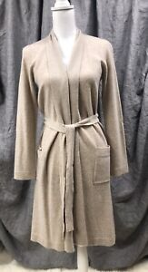 Restoration Hardware Cashmere Spa Robe, XSmall, Oatmeal