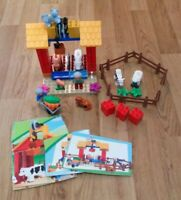 RARE LEGO DUPLO 4686 LEGO VILLE LITTLE FARM COMPLETE LOVELY CONDITION 9 FIGURES