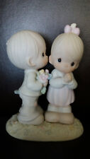 "Precious Moments Figurine 1989 ""Love is From Above� By Enesco 6"" Boy Girl #52184"