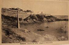 cartolina Genova Quarto dei Mille Scoglio e Monumento  viaggiata 1931  13/11/16