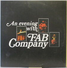 FAB COMPANY An Evening With Fab Company LP Lounge/Soft Rock SIGNED w/Bongo Drums