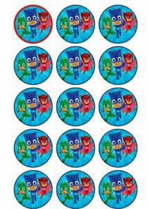 15 PJ Masks. large edible rice paper  cake toppers,