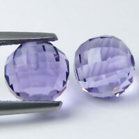 7.41CTS WONDERFUL BALL SHAPE NATURAL AMETHYST 8MM  PAIR VIDEO IN DESCRIPTION