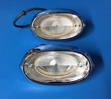 NOS GM 1958 PONTIAC STATION WAGON BACKUP LIGHT LAMP ASSEMBLIES LENS BEZEL SAFARI