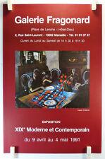 1991 Auguste Chabaud expose Galerie Fragonard Marseille AFFICHE ORIGINALE/19bPB