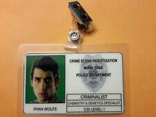 CSI Miami TV Show ID Badge - Ryan Wolfe  prop cosplay costume