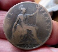 1897 One Penny Queen Victoria Veiled Head