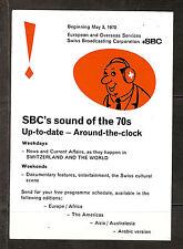 "QSL ""Radio Switzerland"" 11715 kHz +SBC ""Sound of 70s"" Bern Shortwave DXing 1970"