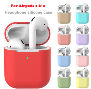 Case For Apple Airpods 1 2 Silicone Shockproof Slim Skin Earphones Cute Cover