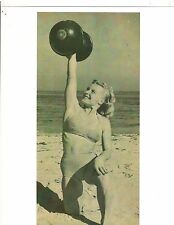 Pudgy Stockton At Muscle Beach 1940's Bodybuilding Muscle Photo B&W