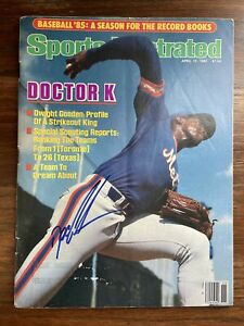 DWIGHT Doc GOODEN Signed Autographed 1985 Sports Illustrated SI 4/15/85 NY Mets