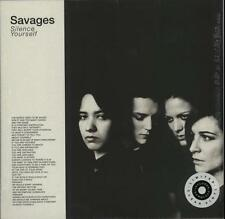 Savages Silence Yourseld Ltd ed Clear vinyl LP OOP 33 rpm