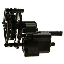 Black Aluminum Transmission Case With Gear Set For Axial Wraith 1:10 RC Car