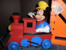 VINTAGE MICKEY MOUSE PLASTIC TRAIN (WAS ON SHAMPOO BOTTLE)1996  BEEN IN STORAGE