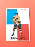 Charlie Burns 1960-61 Topps #24  Vintage Hockey Card