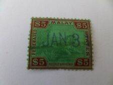 More details for malaysia fed states 1922 sg81 s5 green & red/green used cv£285