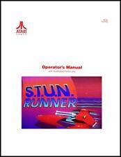 S.T.U.N Stun Runner Arcade Video Game FULL Service & Repair Operations Manual XD