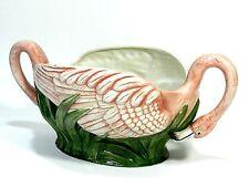 Vintage Pink Flamingo Ceramic Bowl