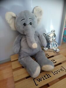 Peluche doudou éléphant gris crème 38 cm Max et Sax excellente état