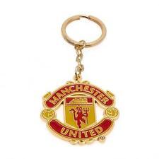 Manchester United Fc Man Utd Keyring Red & Gold Football Keys Present Team New