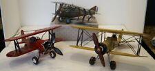 Lot Of 3 Vintage Metal Model Bi-Planes K3215 F803 Aviation