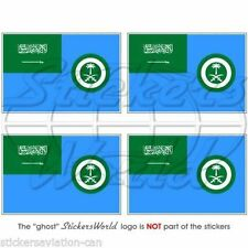 "SAUDI ARABIA AirForce Ensign Flag Bumper-Helmet Decals-Stickers 2""(50mm) x4"