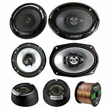 "Kenwood 400W 6x9"" Speakers, 6.5"" 300W Speakers, 13/16""Tweeter, 50FT Speaker Wire"