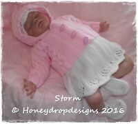 HONEYDROPDESIGNS * STORM * PAPER KNITTING PATTERN * 0-12 MONTHS (4 Sizes)