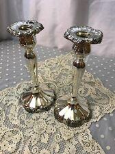 Antique Vtg Pair Silver Plate Candle Sticks Holder Empire Art Nouveau Francis ?