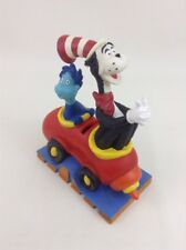 """Cat In The Hat Coin Bank Dr Seuss Henson with Whozit 8"""" Pvc Vintage 1997"""