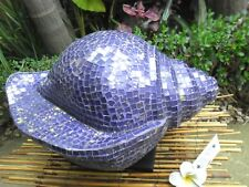 Large Mosaic Lamp Shell Shape (Purple Tiles)  - one only