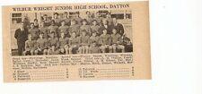 Wilbur Wright Dayton & Lincoln Junior Ohio 1929 Football High School Team Pict