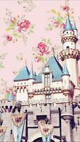 Magic Kingdom Castle and Flowers Collage 6x10 Quilters and Craft Fabric Block