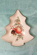 Lenox Porcelain Tree Candy Dish ~ Williamsburg Boxwood & Pine ~ Perfect Cond.