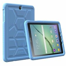 10pcs/lot For Galaxy Tab A 9.7 Case Poetic Shockproof Grip Cover-【TurtleSkin】BU