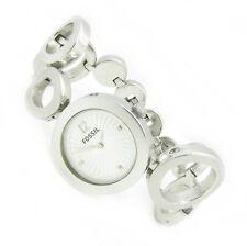 Fossil Damenuhr Armbanduhr Damen Edelstahl silber ES-1623 5ATM Batterie neu N266