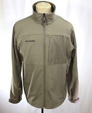 COLUMBIA River Lodge Soft-shell Jacket sz M Outdoors Hiking Camping Coat Khaki
